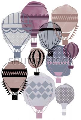 Плакат Акварель вектор воздушные шарики