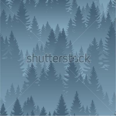 Плакат вектор горы лес фон текстура бесшовный фон