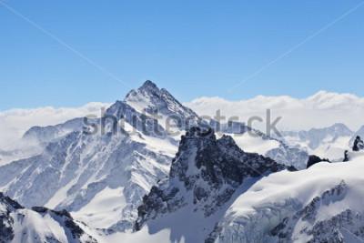 Плакат Зимний пейзаж в Маттерхорне
