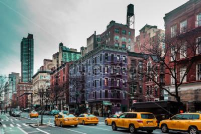 Плакат Фото зданий и улиц Верхнего Запада Сайт Манхэттена, Нью-Йорк