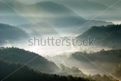 Плакат горная долина