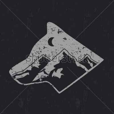Плакат Gray wolf typography design, t-shirt graphics.