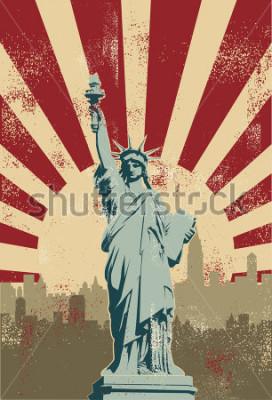 Плакат Statue of Liberty, New York City, vector