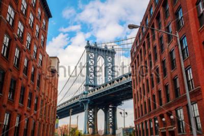 Плакат Manhattan Bridge seen from Dumbo, Brooklyn, New York City
