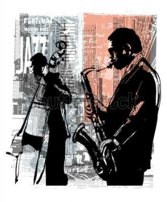 Плакат Джаз в Нью-Йорке - векторная иллюстрация