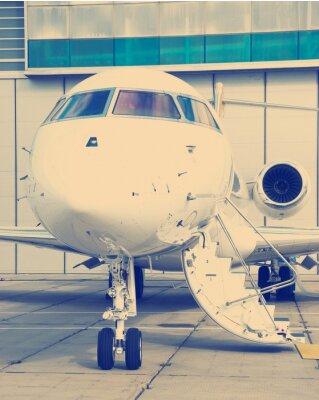 Плакат Частный самолет в ангаре