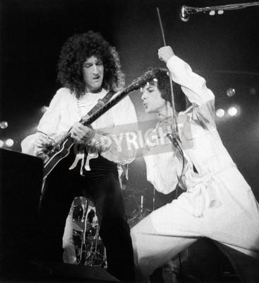 Плакат Королева концерт - день на скачках в 1976 году