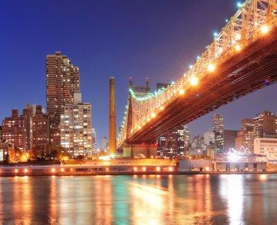 Плакат Queensboro мост и Манхэттена