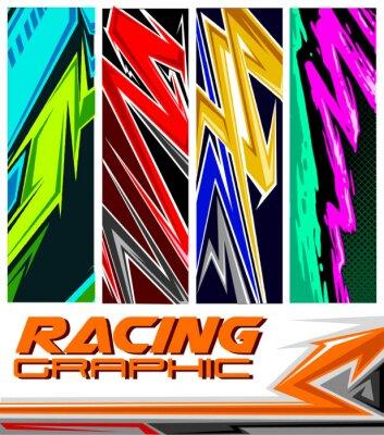 Плакат racing jersey pattern