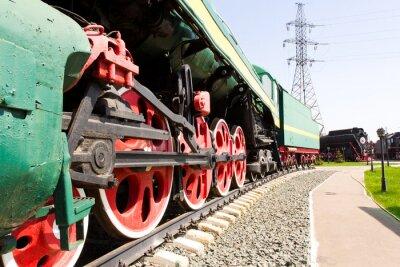 Плакат Железной дороги локомотив