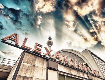 Плакат Железнодорожный вокзал Александерплац в Берлине - Германия