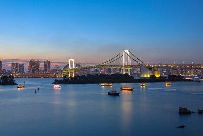 Плакат Радужный Мост Одайба Токио важным местом для посещения