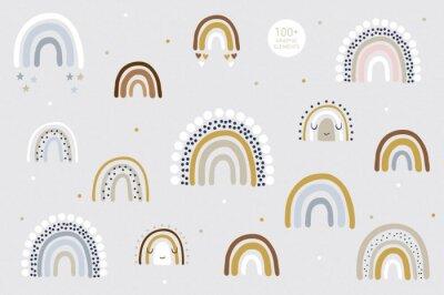 Плакат Rainbow pattern kids decor white background logo design background fashion wedding invitation christmas card retro christmas winter poster font wedding abstract christmas logo flyer brochure