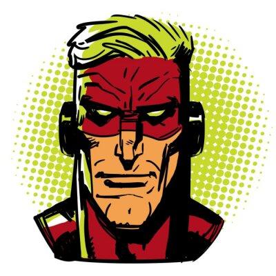 Плакат Красный Герой