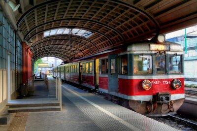 Плакат Красный поезд