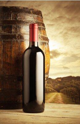 Плакат бутылка красного вина