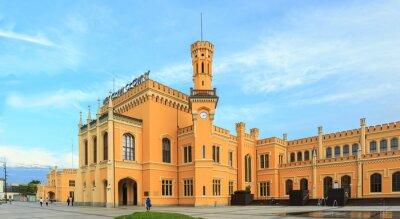 Плакат Восстановлены Главный железнодорожный вокзал в Вроцлав, Польша
