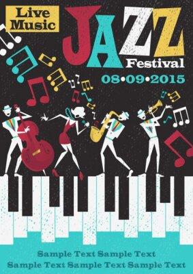 Плакат Ретро Абстрактный джазовый фестиваль Плакат