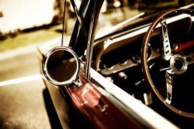 Плакат Ретро фрагмент автомобиль