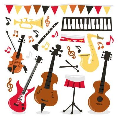 Плакат Ретро Музыкальный партии