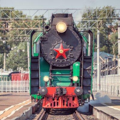 Плакат Retro steam train.