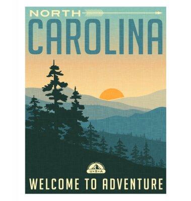 Плакат Ретро плакат в стиле путешествия или наклейка.