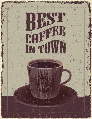 Плакат Ретро-Старинные кофе Плакат