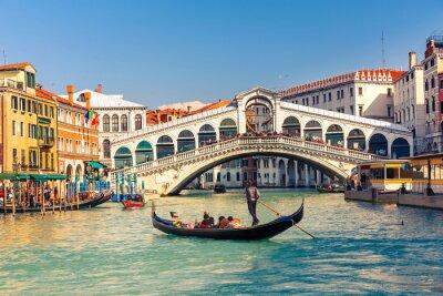 Плакат Мост Риальто в Венеции