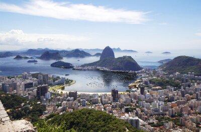Плакат Рио-де-Жанейро. Общий вид города.
