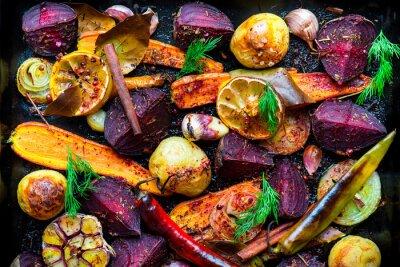 Плакат Жареные овощи