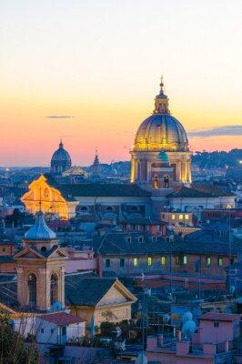Плакат панорама Roma да Вилла Боргезе