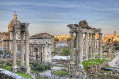 Плакат Римский Форум Закат HDR