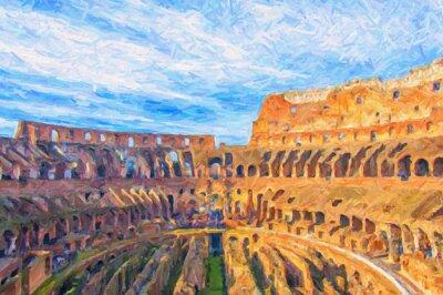Плакат Рим Колизей Цифровая живопись