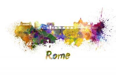 Плакат Рим горизонт акварелью