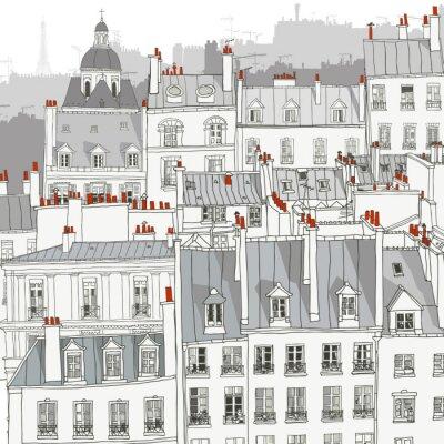 Плакат Крыши Парижа