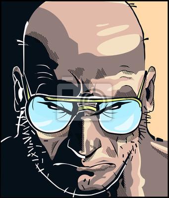 Плакат Rostro комиксов