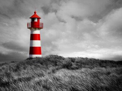 Плакат Rot-Weißer Leuchtturm