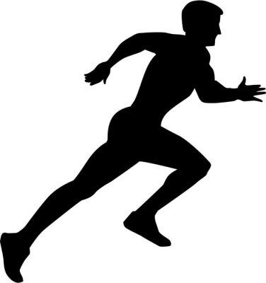 Плакат Running Sprint Silhouette