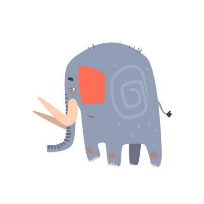 Плакат Sad Blue Elephant Прогулки