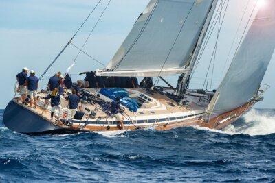 Плакат sail boat sailing in regatta