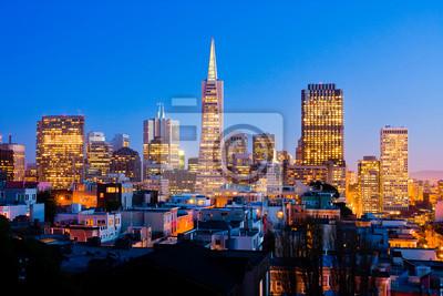 Плакат Сан - Франциско ночью