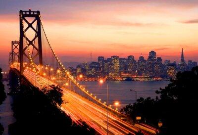 Плакат Сан - Франциско Закат
