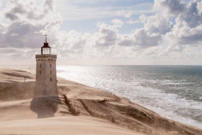 Плакат Песчаная буря на маяке