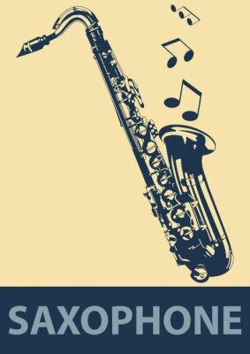 Плакат Саксофон поп