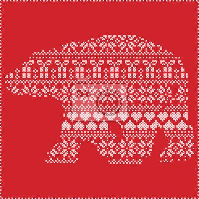 Nordic snowflake vector