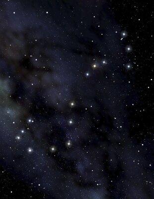 Плакат Скорпион созвездие в ночном небе