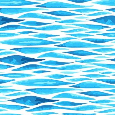 Плакат Бесшовные фона горизонтальной моря