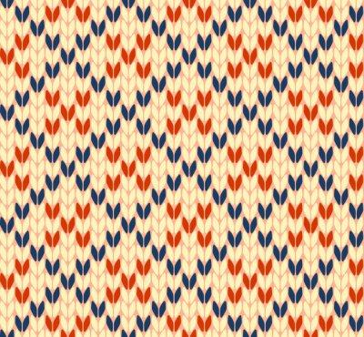 Плакат Бесшовные вязание вектор шаблон