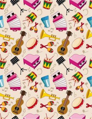 Плакат бесшовные музыка шаблон