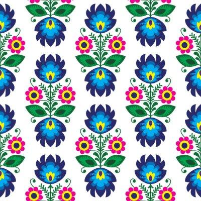 Плакат Бесшовные традиционный цветочный польский картина - этническое происхождение